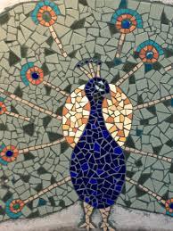 Mosaic Design Mosaic Peacock Detail Julie Boegli Creative Mosaic Design