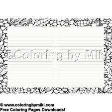 Zentangle Pattern Notepad Coloring Page 1671 A A A A A Prints