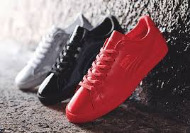 patent leather pumas