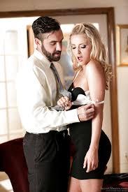 Famous pornstar Karla Kush in short skirt undressing to show small.