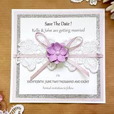 How To Make A Save The Date Card Rose Silver Glitter And Lace Save The Date Card