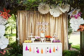 sweet table from a first birthday garden party via kara s party ideas karaspartyideas com