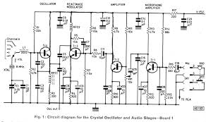 wireless microphone transmitter and receiver circuit diagram