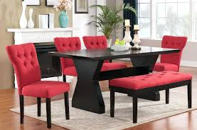 dining table and 6 red leather chairs. dining table and 6 red leather chairs room set with -