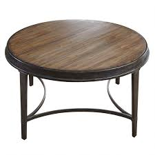 steve silver gianna round coffee table in antique