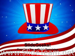 American Flag Powerpoint Hat With American Flag Theme Nation Powerpoint Background