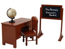 18 inch dolls furniture teachers desk and accessories for american girl dolls