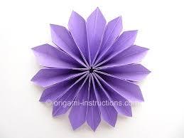 Paper Folded Flower Easy Origami Yamaguchi Dahlia Folding Instructions