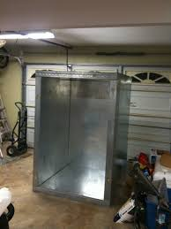the home made powder coating oven almost finished