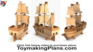 wood toy plan pirate ship madagascar