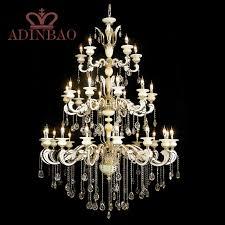 large duplex living room chandelier modern crystal chandelier high lobby hanging light fixture large living room