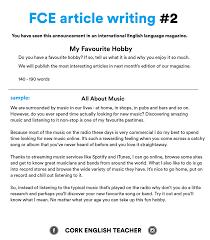 Fce Exam Writing Samples My Favourite Hobby English Writing