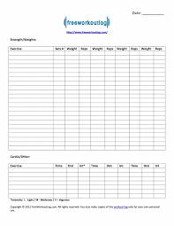 Word Spreadsheet Templates Weight Training Spreadsheet Template Effective Workout Log Calendar
