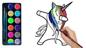 drawforkids unicorn glitter