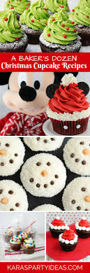 Karas Party Ideas A Bakers Dozen Christmas Cupcake Recipe Ideas