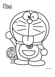 doraemon coloring book drawing