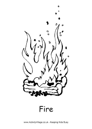 Small Picture Fire Colouring Page