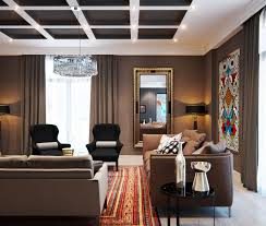 contemporary decorating ideas for living rooms. Square Long Wall Mirror For Attractive Living Room Design With Modern Glass Pendant Light And Contemporary Sofa Furniture Also Using Brown Elegant Curtains Decorating Ideas Rooms L