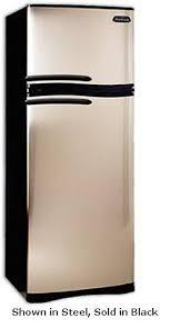 sunbeam snr12tfpab 11 6 cu ft top freezer refrigerator with spill proof shelves humidity controlled vegetable crisper black refigerator 8 3 cu