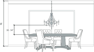chandelier height from table pendant lights over