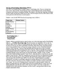 finding templates in word speech therapy test of word finding evaluation report template twf
