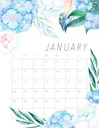 Free Printable 2019 Floral Calendar The Cottage Market