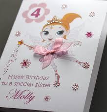 A5 Handmade Personalised Little Ballerina Birthday Card Daughter Sister Friend