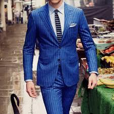 women work suit promotion shop for promotional women work suit on mens chalk stripe suit custom made royal blue mens striped suit tailored single breasted chalk striped men suit peak lapel