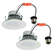 dimmable led recessed lights lowes. utilitech 2-pack 50-watt equivalent white dimmable led recessed retrofit downlights (fits led lights lowes w