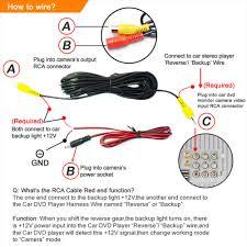 wrg 7792 car backup light wiring wire waterproof car rear view backup