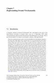 essay on swami vivekananda vivekananda essay essay topics critique  representing swami vivekananda springer inside
