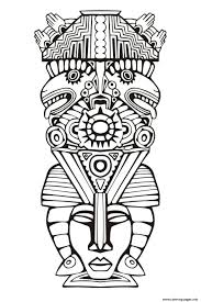 Small Picture Adult Totem Inspiration Inca Mayan Aztec 6 Coloring Pages Printable