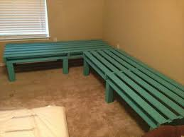 reclaimed pallet sectional bed