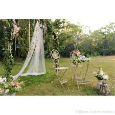 2018 Outdoor Garden Wedding Photo Booth Backdrop Vinyl Printed Arched Door Flowers Nature Scenic Kids Children Photography Background For Studio From
