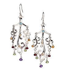 chandelier earrings with blue topaz 375 00