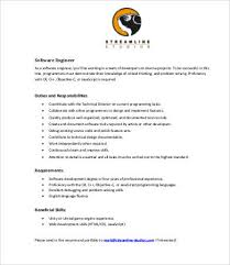 Sales Associate Job Dutie Beauteous 48 Sample Engineer Job Description Templates PDF DOC Free