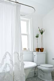 luxury shower curtain ideas. Credit To Jenn Hannotte Interiors · Marvelous Ruffle Shower Curtain In Spaces Shabby Chic With Luxury Next Unique Ideas