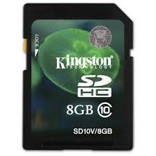 Купить <b>Карта памяти</b> SDHC Kingston SD10V/<b>8GB</b> в каталоге ...