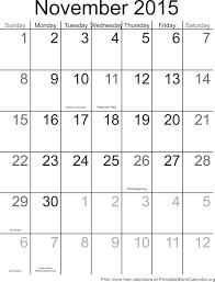 Calendar Planner Printable 2015 November 2015 Blank Calendar Template Printable Blank Free
