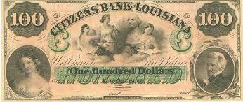 Confederate Money Value Chart Confederate Citizens Bank Of Louisiana 100 Dollar Note