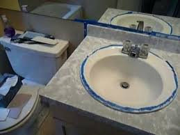 diy bathroom counter bathroom counter easy id rather do it just plain white diy spray paint