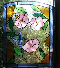 stained glass panels hummingbird and flowers stained glass door panel stained glass side panels for doors