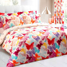 details about multi erfly duvet cover bedding set poly cotton single double king sizes