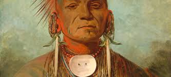 george catlin see non ty a an iowa cine man 1844 1845 oil on canvas 27 15 16 x 22 13 16 in 71 x 58 cm paul mellon collection 1965 16 346