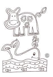 Disegno Da Colorare Gratis Bambini Animali Mamma Felice Con Animali