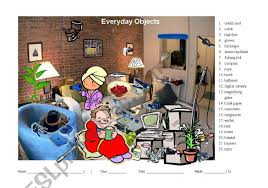When we talk about printable hidden picture worksheets, below we can see several related pictures to add more info. Hidden Object Game For Learning Vocabulary About Everyday Objects Esl Worksheet By Ms Chau Ec