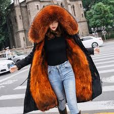 real fur collar winter jacket women european style winter women very warm fur lining down jacket winter coat female warm parkas clothing