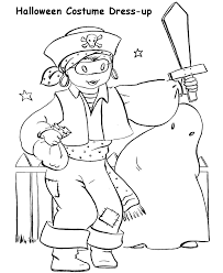 halloween costumes coloring pages halloween costume coloring pages pirate halloween costume