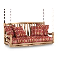 quotthe rustic furniture brings country. Rustic Porch Swing #1233 Shown In Pecan Premium Finish (on Peeled Bark) La Quotthe Furniture Brings Country