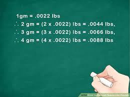 Lbs To Grams Conversion Chart How To Convert Grams Into Pounds 5 Steps With Pictures